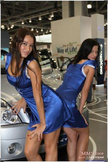 Соси девушки на автовыставках фото