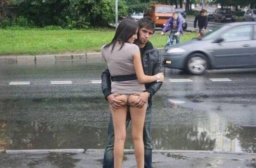 пикапер снял девушку на улице